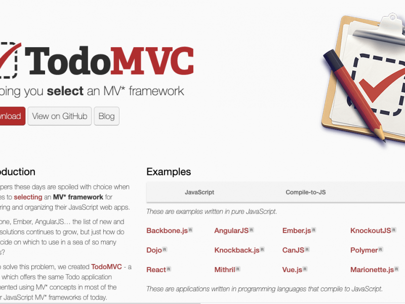 todomvc.com is pretty dang cool.